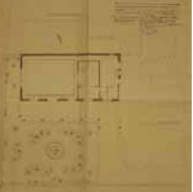 Drawing of the first extension project of Villa Argentina